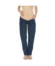 Kriti Western Maternity Jeans - Blue