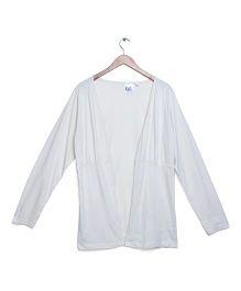 Kriti Full Sleeves Maternity Shrug - White