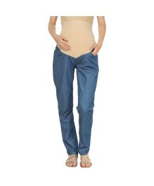 Kriti Western Maternity Jeans - Light Blue