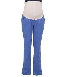 Kriti Full Length Slim Fit Maternity Jeans - Blue