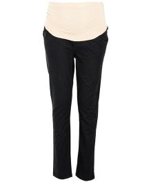 Kriti Western Maternity Slim Fit Pant - Black