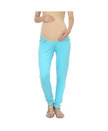Kriti Western Maternity Jeggings - Aqua Blue