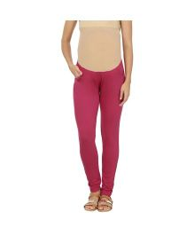 Kriti Western Maternity Leggings - Pink