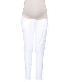 Kriti Ethnic Maternity Full Length Maternity Legging - White