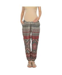 Kriti Western Maternity Lounge Pants - Multicolour