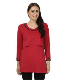 Kriti Comfort Nightwear Set With Polka Print - Multicolor
