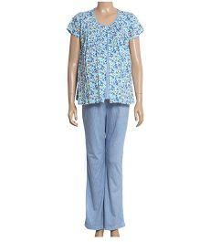 Uzazi Maternity Short Sleeves Nightwear Set - Lavender