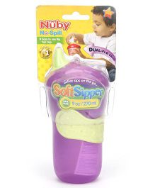 Nuby No Spill Soft Sipper Purple - 270 ml