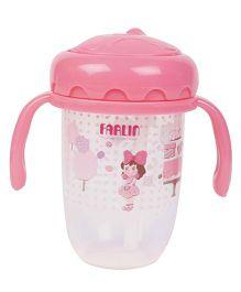 Farlin Straw Drinking Cup Pink - 250 ml