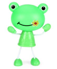 Funny Smiling Frog Face Shape Night Lamp - Green