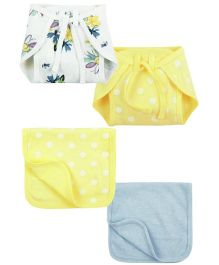 Babyoye Burp Cloth With Nappy Pack Of 2 - Multi Colour