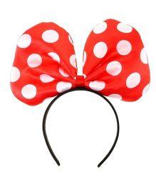 Funcart Polka Bow Hair Band - Red
