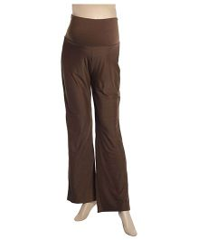 Uzazi Maternity Full Length Bottom Wear - Brown