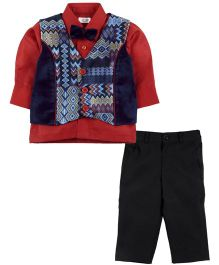 Babyoye Vest Suit with Trouser - Multi Colour