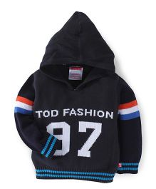 Fisher Price Apparel Full Sleeves Hooded Sweater Tod Fashion Design - Black