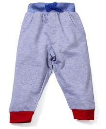 Babyoye Fleece Track Pant With Drawstring - Blueish Grey