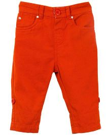 M&M Trouser With Twill - Orange