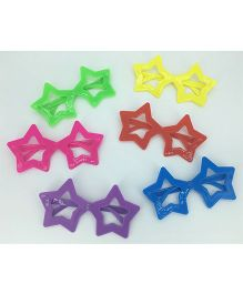 Funcart Star Shaped Party Glasses Multicolor - Pack Of 4