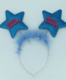 Funcart Happy Birthday Star Feather Hairband - Blue