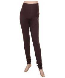 Uzazi Maternity Stretchable Leggings - Brown