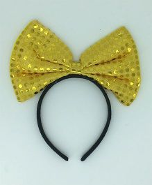 Funcart Sequin Dotted Hairband - Yellow