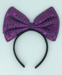 Funcart Sequin Dotted Hairband - Purple