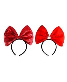 Funcart Light Up Sequin Bowknot Headband - Red