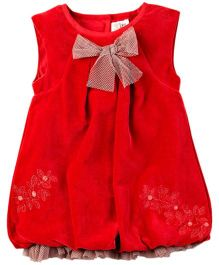 M&M Dress With Mesh - Red