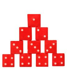 United Toys Dice Set Pack Of 12 - Red