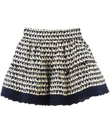 Fisher Price Apparel Rabbit Print Skirt - Blue And White