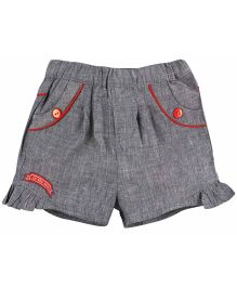 M&M Infant Shorts With Frill - Grey