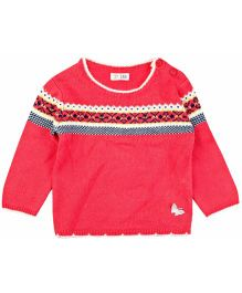 M&M Sweater With Detail - Pink