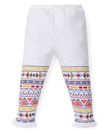 Babyoye Frilled Hem Legging - White