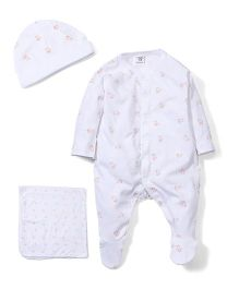 M&M Infant Baby Set Pack of 3 - Coral And White