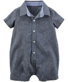 Carter's Chambray Button-Front Romper