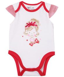 M&M Short Sleeves Bodysuit - White