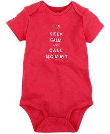 Carter's Keep Calm & Call Mommy Bodysuit