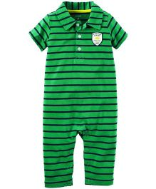 Carter's Striped Polo Jumpsuit