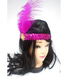 Funcart Sequin Flapper Headband - Pink