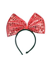 Funcart Sequin Bow Hairband - Red