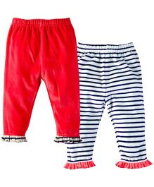 M&M Leggings Pack Of 2 - Red And white