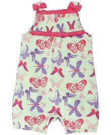 Babyoye Butterfly Printed Sleeveless Bodysuit - Pink