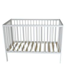 Babyoye Alton Infant Cot - White