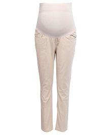 Kriti Maternity Slim Fit Pant - Beige