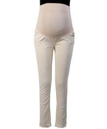 Kriti Western Maternity Pants- Beige