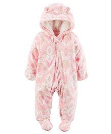 Carters Full Sleeves Sleep Suit - Pink