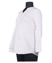 Kriti Western Maternity Full Sleeves Blouse - White