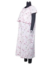 Kriti Comfort Woven Hospital Nighty Ankle Length  - Pink