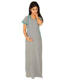 Kriti Comfort Nursing Nighty - Grey