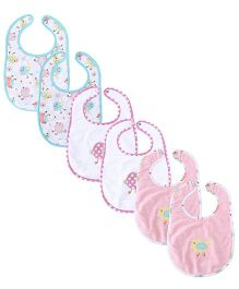 M&M Embroidered Bibs Pack Of 6 - Multicolor